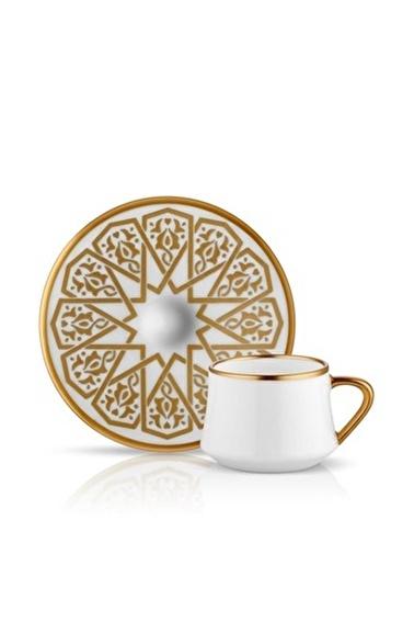 Koleksiyon Sufi Türk Kahvesi Seti 6'Lı Selçuklu Altın Renkli